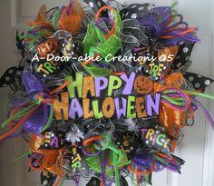 DELUXE HAPPY HALLOWEEN Pumpkin Ruffled by ADoorableCreations05, $95.00