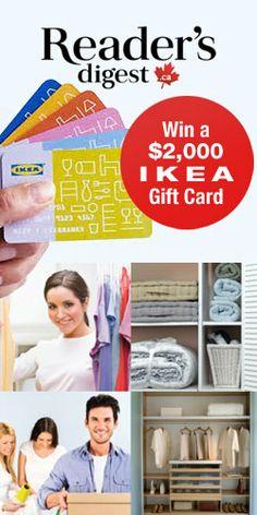 Win a $2,000 IKEA Gift Card