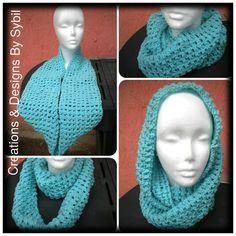 Crochet Cowl Scarf by crochetbysybil on Etsy, $20.00