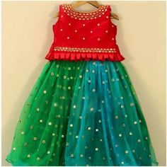 Kids lehenga To order WhatsApp on 9703713779 Girls Frock Design, Kids Frocks Design, Baby Frocks Designs, Baby Dress Design, Kids Lehanga Design, Lehanga For Kids, Kids Party Wear Dresses, Kids Dress Wear, Kids Gown