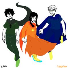 homestuck trio by misterpoof on tumblr