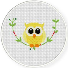 FREE for March 22 2016 Only - Decorative Owl Cross Stitch Pattern