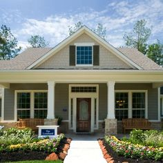 Image result for bungalow houses with woodstock brown siding with shutters