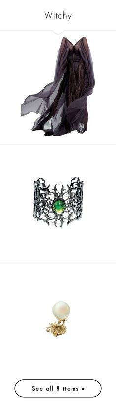 """Witchy"" by where-da-wild-things-are ❤ liked on Polyvore featuring dresses, gowns, medieval, vestidos, jewelry, bracelets, accessories, tourmaline jewelry, home and home decor"