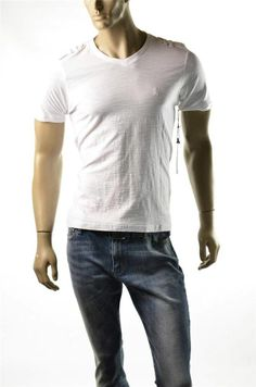 English Laundry White T Shirts Lions Crest Mens S S V T Shirt