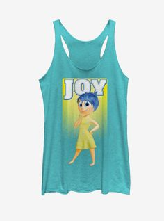 Disney Pixar Inside Out Joy Portrait Womens Tank Run Disney Costumes, Running Costumes, Halloween Costumes, Disney Tanks, Disney Shirts, Disney Incredibles, Disney Pixar, Inside Out Characters, Disney Inside Out