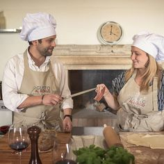 Our guests preparing delicious italian food, having fun and enjoying the amazing Casperia.