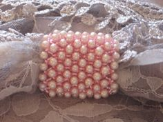 Pink-on-pink scarf ring combines Swarovski pearls and Toho seed beads. $30 Scarf Rings, Pink Scarves, Swarovski Pearls, Seed Beads, Pearl Jewelry, Beads, Bead