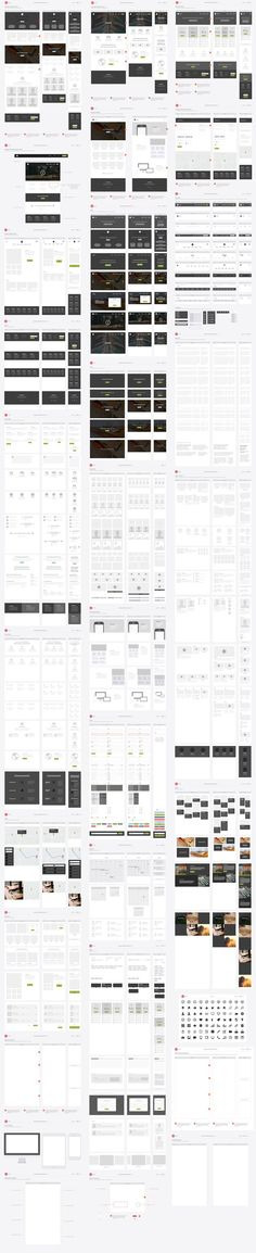 Responsive Website Wireframe Kit by UX Kits on Creative Market. If you like UX, design, or design thinking, check out theuxblog.com