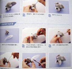 9784579113248 felt dogs made of wool japanese craft book