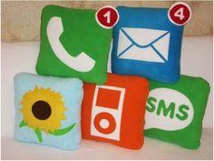 iPhone icon pillows
