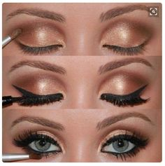 """Mary Kay mineral eyeshadows in moonstone, honey spice, and copper glow .... another fun """"Chocolate"""" look!"""