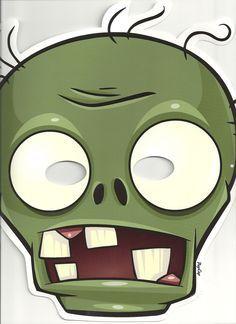 zombie mask Kids Zombie Party, Zombie Birthday Parties, Birthday Party Themes, Plants Vs Zombies, Zombies Vs, Homemade Halloween Costumes, Family Halloween Costumes, Diy Costumes, Zombie Costumes