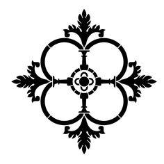 "Gothic Clover 10""x10"" Artisan Enhancements Stencil"