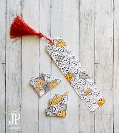 Use a masking technique with stamps to create a repeating, overlapped pattern with any stamp. These cat bookmarks were made with this technique and then colored with colored pencils. DIY
