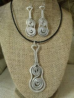 G, C & D, Guitar Pendant and Earrings by the Artisti Jay of Greensboro, NC