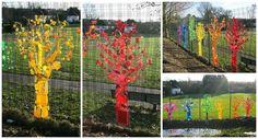 Rainbow Trees From Up-cycled Plastics