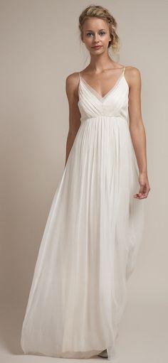 (via Spaghetti Strap V-neck Unique Summer Wedding Dress) Sarah?