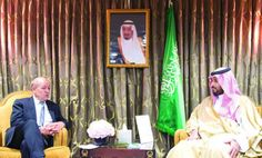 Deputy Crown Prince Mohammed bin Salman holds talks with French Defense Minister Jean-Yves Le Drian in Paris.