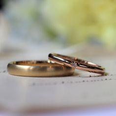 色々な要素を詰め込みすぎない、シンプルにいつまでも愛し続けられるデザインを [marriage,wedding,ring,bridal,K18,マリッジリング,結婚指輪,オーダーメイド,ウエディング,ith,イズマリッジ]