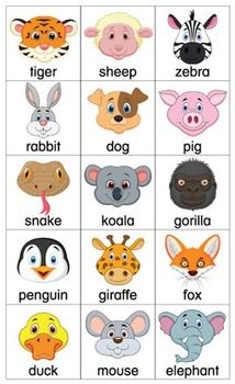 ESL Games-Animal Bingo