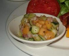 Cucumber Melon Salad Recipe from Sci Fi Dine In Theater at Hollywood Studios in Disney World