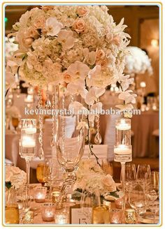 Fresh Flower Centerpieces For Weddings Clear Glass Flower Vase For Table Centerpiece Party Events Wedding
