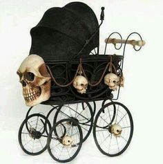 Gothic baby carriage