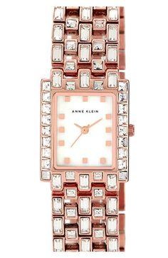 Anne Klein rectangular bracelet watch