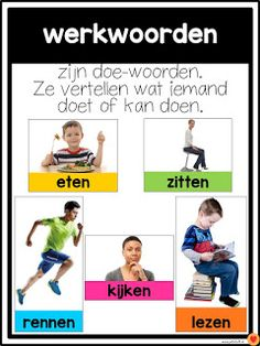 Juf-Stuff: Posters woordsoorten School Tool, School Hacks, School Stuff, Teacher Education, Kids Education, Learn Dutch, Kids Planner, Numbers Preschool, School Posters
