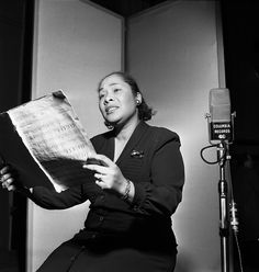 Juanita Hall in a recording session for South Pacific - Original Broadway Cast Recording 1949 | The Official Masterworks Broadway Site
