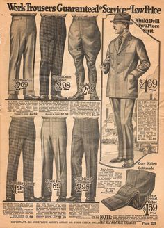 1922 Spring/Summer Catalog, National Cloak & Suit Co., page 329 1920s Mens Clothing, Vintage Clothing, Retro Fashion, Vintage Fashion, Carnival Costumes, Historical Clothing, Cloak, Fashion Suits, Men's Fashion