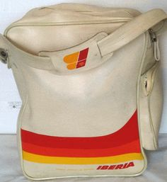 iberia airlines vintage flight bag