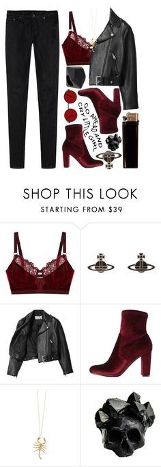 """""""// Scorpio Eclipse"""" by spaceygraceyy ❤ liked on Polyvore featuring Intimately Free People, Vivienne Westwood, Acne Studios, Charlotte Russe, Jennifer Fisher, Marc by Marc Jacobs, Macabre Gadgets and R13"""
