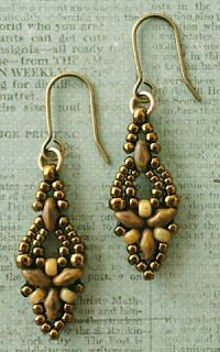 Linda's Crafty Inspirations: Free Beading Pattern: Elinor Earrings
