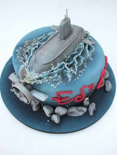 images about Submarine Cakes Navy Cakes, Nautical Cake, Sea Cakes, Cake Shapes, Novelty Cakes, Cakes For Boys, Piece Of Cakes, Cute Cakes, Cake Creations