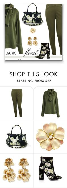 """""""Dark Floral Accessories"""" by bonnie-wright-1 ❤ liked on Polyvore featuring M&Co, Chicwish, Givenchy, Oscar de la Renta and Miss Selfridge"""