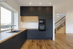 L Shaped Kitchen, New Homes, Kitchen Cabinets, Modern Kitchens, Home Decor, L Shape Kitchen, Decoration Home, Room Decor, Cabinets