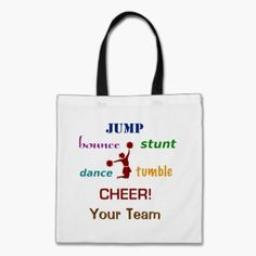 Jump Stunt Bounce Cheerleader Crafts Shopping Tote Bags