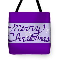 Tote Bag of 'Merry Christmas 2' by Sumi e Master Linda Velasquez.