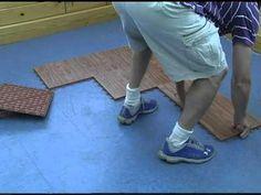 Portable dance floor mat.