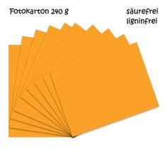 Fotokarton mandarin A4 - 10 Bogen - 240g