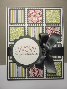 card using small squares