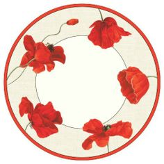 Entertaining with Caspari Dancing Poppies Paper Dinner Plates, Pack of 8 by Caspari Inc.. $10.16. Made in the usa using environmentally-conscious raw materials. Disposability reduces clean-up time so you can enjoy more time with friends and family. Pack of eight 10-1/2-inch paper dinner plates by caspari. Made of extra-sturdy paper printed with non-toxic, water-soluble dyes. Dancing poppies pattern reproduced from a 19th-century belgian textile design from the musee de l?impres...