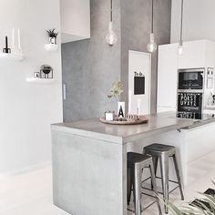 √ Scandinavian Kitchen Design For Your Lovely Home - Boxer JAM Kitchen Interior, Interior Design Living Room, Kitchen Decor, Interior Decorating, Kitchen Walls, Kitchen Cabinets, Room Kitchen, Scandinavian Kitchen, Scandinavian Style