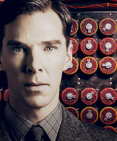 From THE IMITATION GAME (2014) poster: Benedict Cumberbatch as Alan Turing.