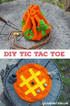 This easy sewing project for boys came from the idea of combining a popular children's game with the fact that kids love carrying things around. This fun tic tac toe pouch is great sewing project for boys as well as girls. Sewing Projects For Kids, Sewing For Kids, Diy For Kids, Crafts For Kids, Free Sewing, Sewing Crafts, Tic Tac Toe, Plushie Patterns, Quilt Patterns