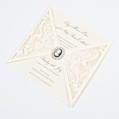 Spangle Ballet #wedding invitations #pocketfold invites