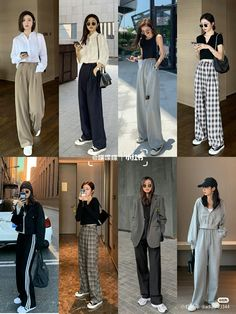 Korean Casual Outfits, Korean Outfit Street Styles, Retro Outfits, Cute Casual Outfits, Stylish Outfits, Korean Style, Korean Girl Fashion, Korean Fashion Trends, Korean Street Fashion