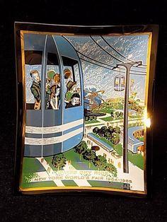 Vintage 1964-1965 New York World's Fair Swiss Sky Ride Glass Dish Houze Art | Collectibles, Historical Memorabilia, Fairs, Parks & Architecture | eBay!
